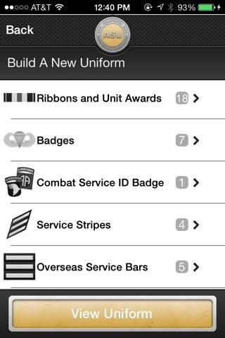 iUniform ASU - Builds Your Army Service Uniform screenshot 2