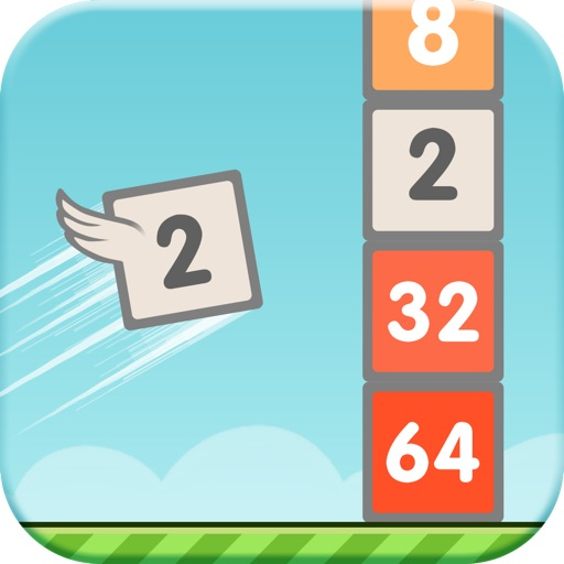Flappy 2048 - the Great ultimate mix of Flappy bird and 2048 number puzzle game! iOS App