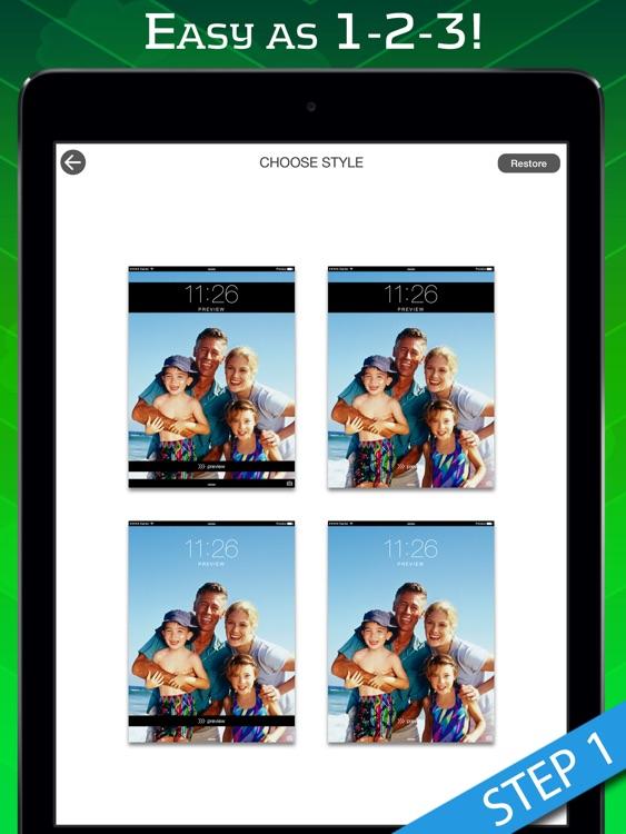 theme foundry hd ez lock screen slide to unlock color dock dots