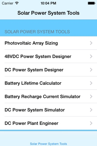 Solar Energy System Tools screenshot 1