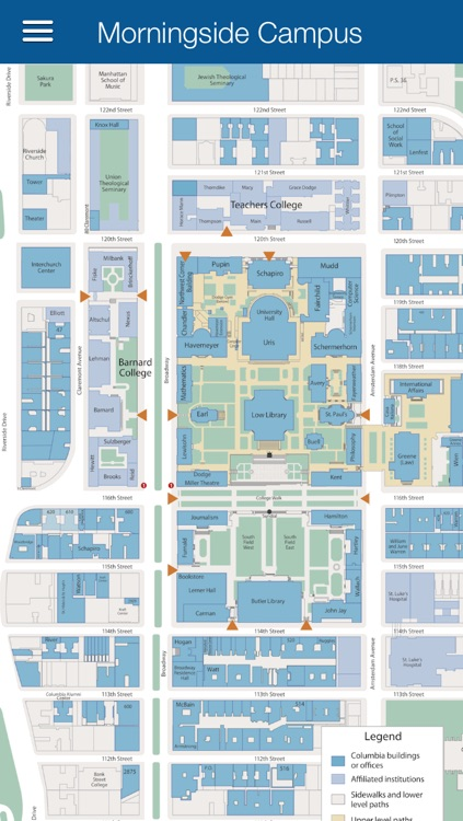 Columbia University Map By Misanthropic App Design