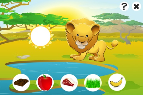 Awesome Feed-ing Happy Wild Animal-s Kid-s Game-s: Free Interactive Challenge About Good Nutrition screenshot 1