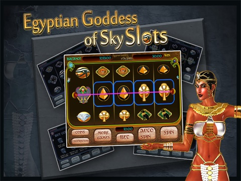 Egyptian Goddess of Sky Slots Free - Arcade Casino Presents a Vegas Style Slot Machine Game For Your Entertainment!-ipad-2
