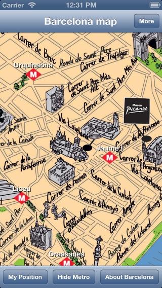Barcelona Offline Map Guide On The App Store - Barcelona map guide