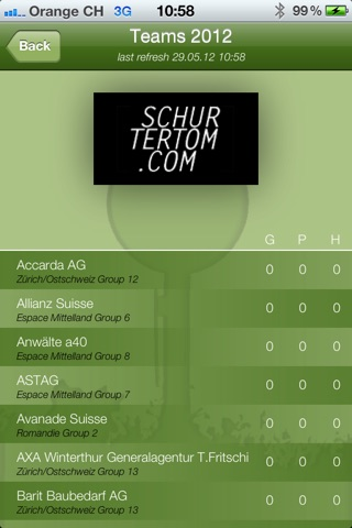 Golf4Companies.ch screenshot 2