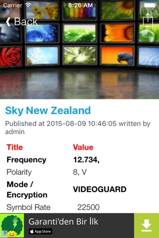 New Zealand TV Channels Sat Info screenshot 3