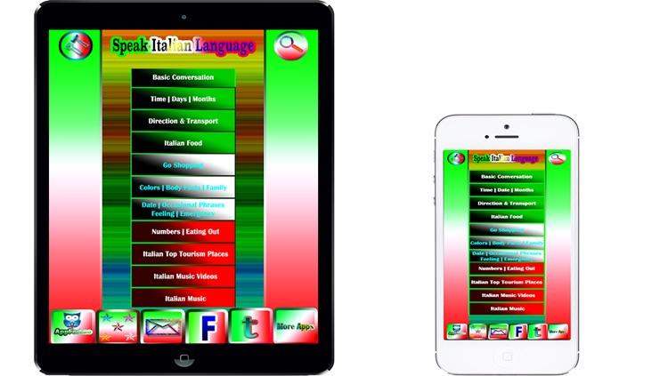 Learn to Speak Italian Language-Italian Phrasebook-Talking Italian-Italian  app-Italy by Souliya Sivilay