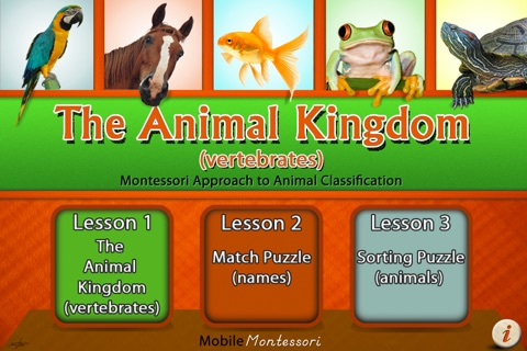 Montessori Approach to Zoology - The Animal Kingdom (Vertebrates) screenshot 1
