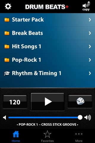 Drum Beats+ (Rhythm Metronome, Loops & Grooves Machine) screenshot 1