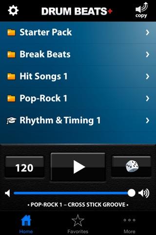 Drum Beats+ (Rhythm Metronome, Loops & Grooves Machine) screenshot 1