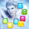 Ice Princess Frozen Snowflake matching Puzzle Game