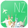 New Zealand Fly & Drive. Offline road map, flights status & tickets, airport, car rental, hotels booking.