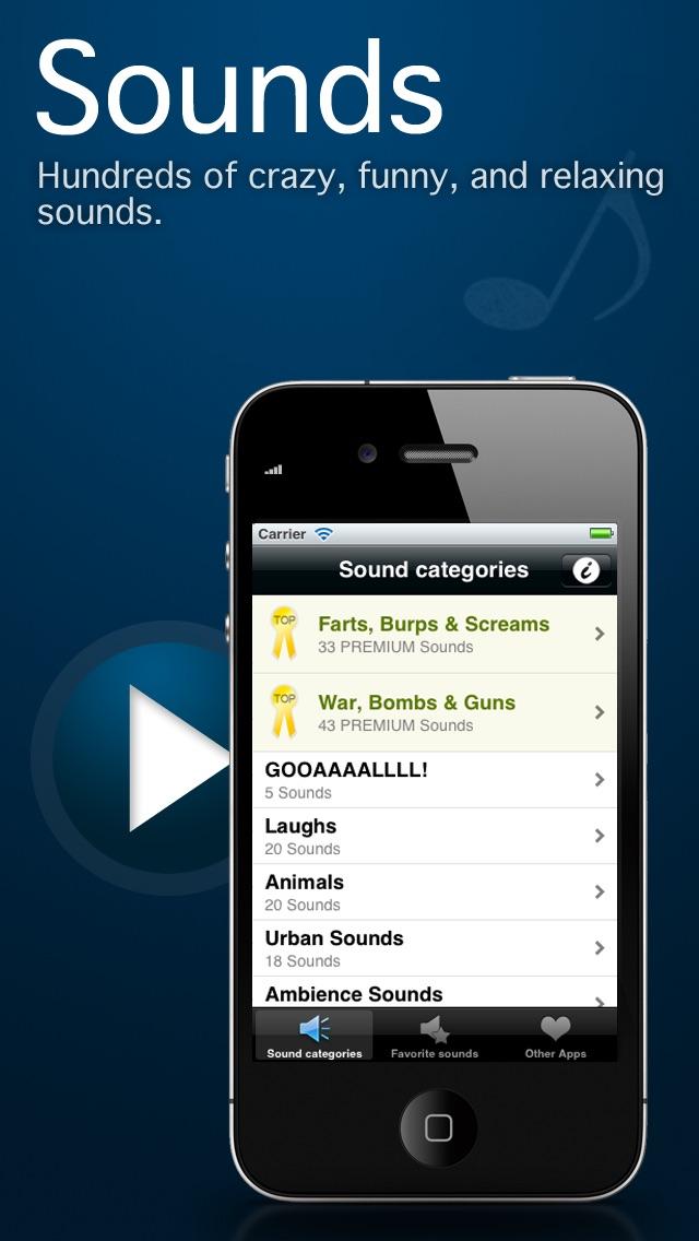 Sounds!!! Screenshot on iOS