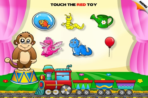 Colors Train • Learning Colors - Interactive Fun Educational Games with Toys, Animals, Cars, Trucks and more Vehicles for Children (Baby, Toddler, Preschool, Kindergarten) Free screenshot 2