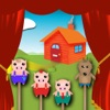 Three Little Pigs Puppet Theatre for Kids