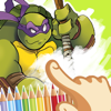 Cartoon coloring series for Teenage Mutant Ninja Turtles unofficial version