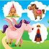 Animiertes Memo Spiel mit Zauberei-Tieren, Prinzessin und Pferden Für Kinder und Babies! Kostenloses Kinderspiel - Spaß zum Gedächtnis-Training und Lernen von logischem Denken