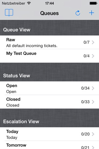iOTRS Mobile screenshot 1