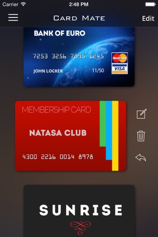 Card Mate Pro- credit cards screenshot 2