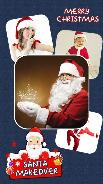 Christmas Makeover FREE - Santa Claus Photo Editor to Add Hat, Mustache & Costume Screenshot