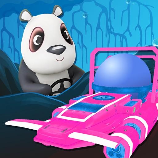 Panda Submarine Reef Racer - FREE - 3D Underwater Express iOS App