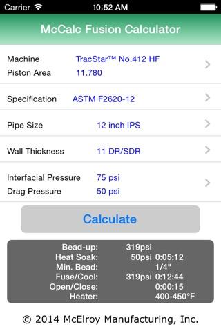 McCalc Fusion Pressure Calculator screenshot 1