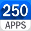 250 Aplicaciones en 1 - AppBundle 2 (Linterna, contador de tiempo, para hacer, convertidor, calculadora, Espejo & más)