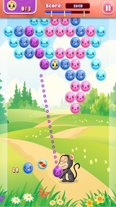 Cartoon Chimp Bubble Popper - FREE - многоуровневое лесчое приключение Screenshot