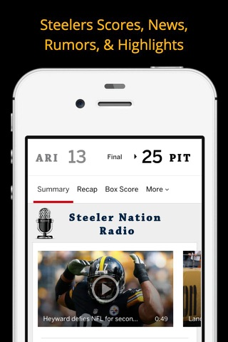 Pittsburgh GameDay Radio for Steelers Pirates Pens screenshot 2