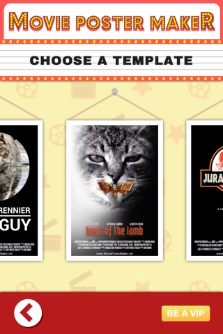 Movie poster maker app