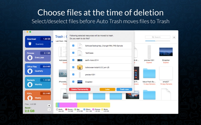 how to delete unwanted files on mac