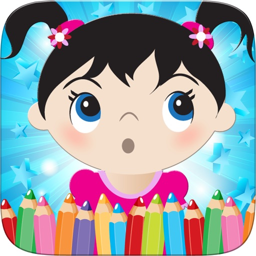 Little Girls Coloring World Drawing Story Kids Game iOS App
