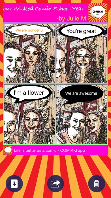 download COMIKKI - Your Comic Life : Automatic Selfie Cartoon Photo Strip Camera Pro+ apps 0