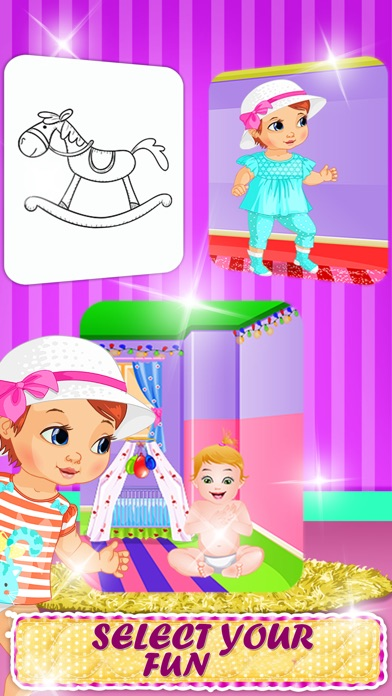Mommy baby dress up room design painting game for kids for Room design game app