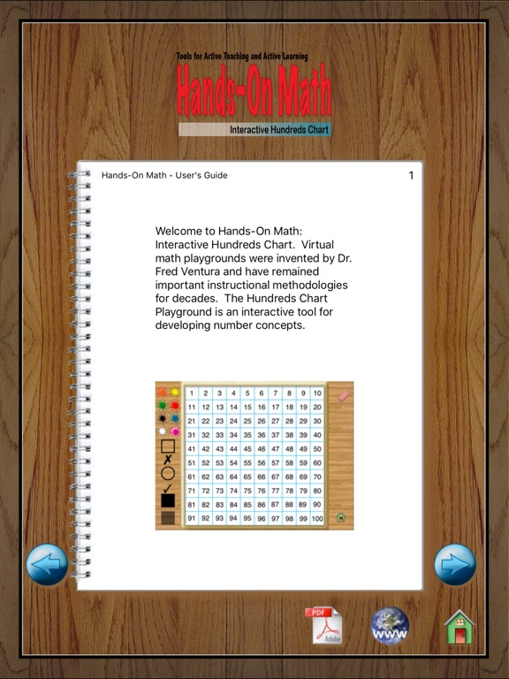 HandsOn Math Hundreds Chart On The App Store