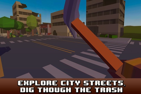 Pixel City Survival Simulator 3D Full screenshot 2