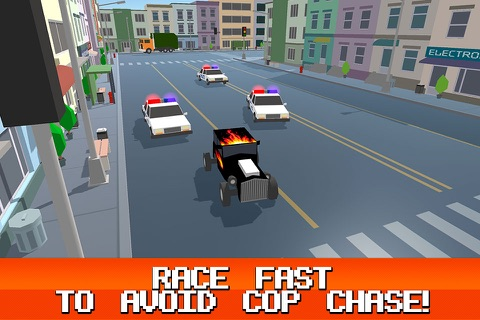 Pixel City: Crime Car Theft Race 3D Full screenshot 3