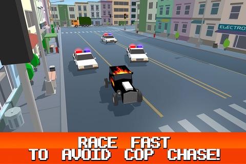 Pixel City: Crime Car Theft Race 3D Full screenshot 3