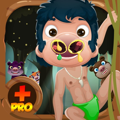 Jungle Animal Nose Doctor Story – Booger Games Mania for Kids Pro iOS App