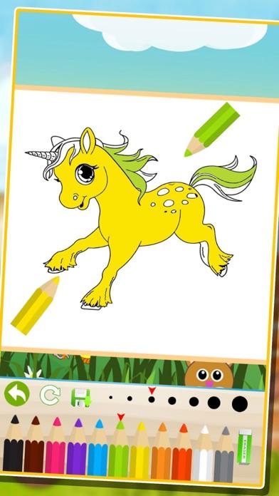 Screenshot of bambini animale libro da colorare: cute cane gatto pittura gattino pony per prescolare2