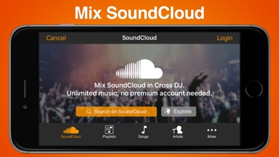 Screenshots of Cross DJ Free - Mix your music for iPhone