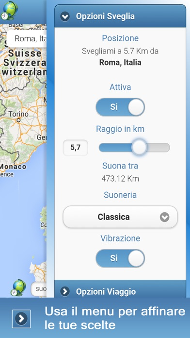 Screenshot of GeoSveglia4