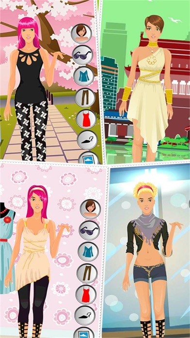 Dress up celebrity fashion party game for girls fun Beauty avenue fashion style fun