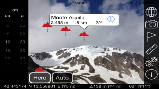 Mountains AR: la realtà aumentata Screenshot