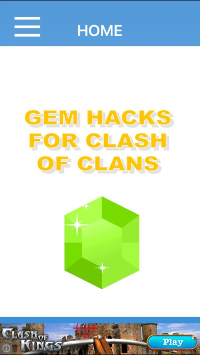 Screenshots of FREE Gem Hacks for Clash of Clans for iPhone