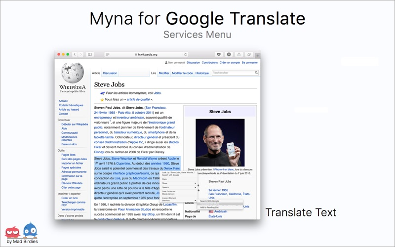Myna for Google Translate Screenshots
