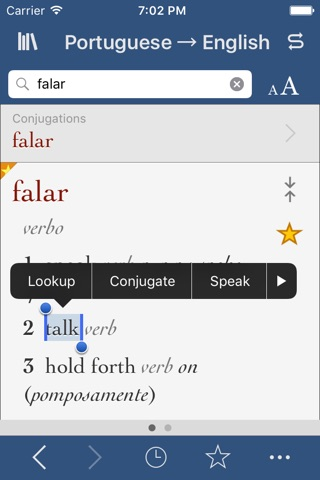 Portuguese-English Translation Dictionary and Verbs screenshot 1