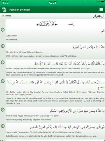 Quran Tajweed in Swedish - Koranen på Svenska, Arabiska och Fonetik-ipad-3
