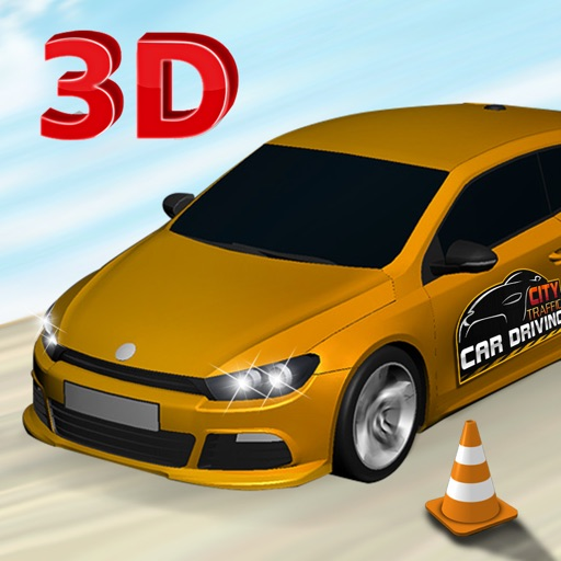 Real City Car Driving School Simulator: Driving test and car parking game iOS App