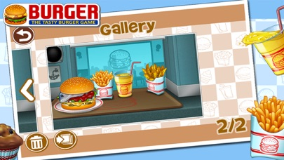 Screenshots of Burger for iPhone